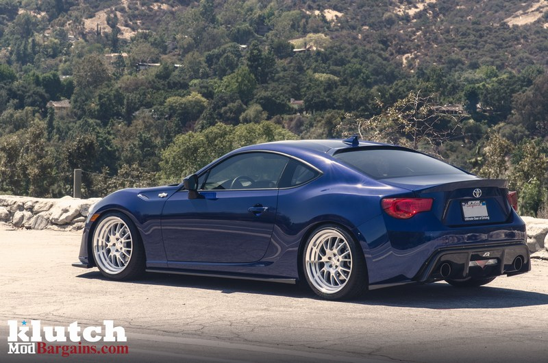 Dark Blue Scion FR-S Background Silver Klutch Wheels