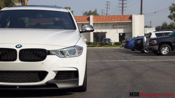 White BMW M-Sport F30 335i Front Light