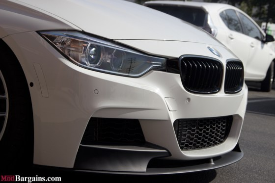 White BMW M-Sport F30 335i Front Grille