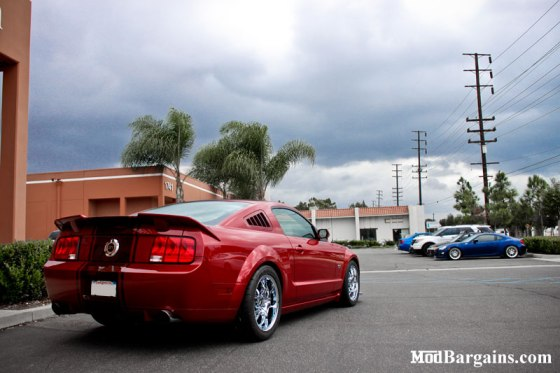 Red Mustang GT Side Back