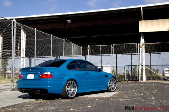 Laguna Seca Blue BMW E46 M3 Side Back