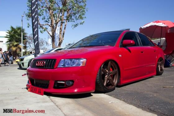 Red Audi A4 A Bagged Audi B7 A4