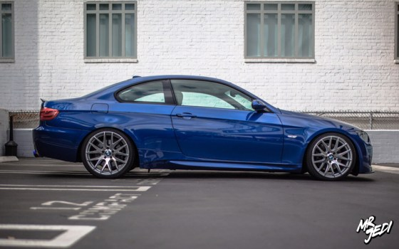 Blue 2007 BMW E92 335i Side
