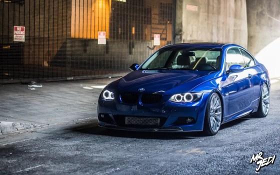 Blue 2007 BMW E92 335i Halo Angel Eyes Headlights