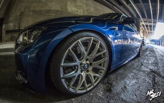 Blue 2007 BMW E92 335i Wheels Close-up