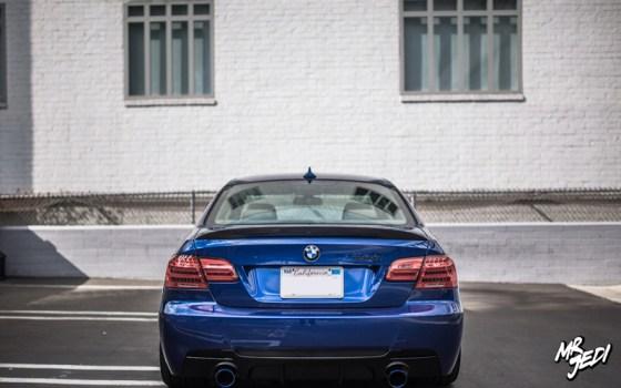Blue 2007 BMW E92 335i Rear Bumper Tail Lights