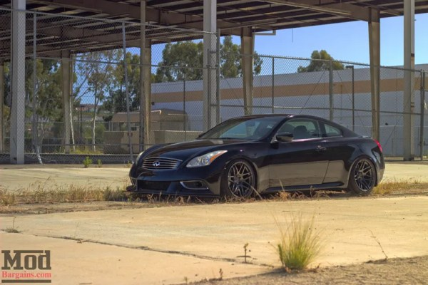 Quick Snap: Kenny's JDM x Euro Infiniti G37S on Forgestar F14 Super Deep Concave Wheels @ ModAuto