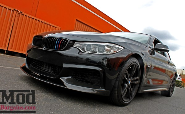 Quick Snap: F32 BMW 435i Carbon Fiber Front Splitter Performance-Style Installed Photos