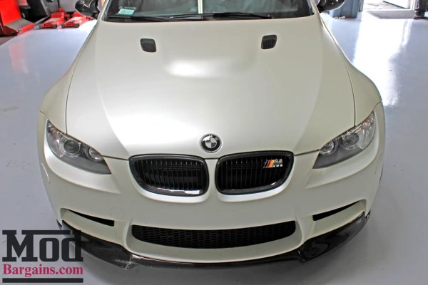 Insane E93 Matte White BMW M3 on Forgestar F14 SDC Wheels Nails the Carbon Look