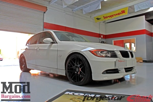 BMW E90 328i on Forgestar F14s gets KONI FSD Shocks + Eibachs