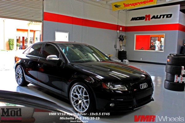 Quick Snap: B8 Audi S4 on VMR V710 Hyper Silver Wheels