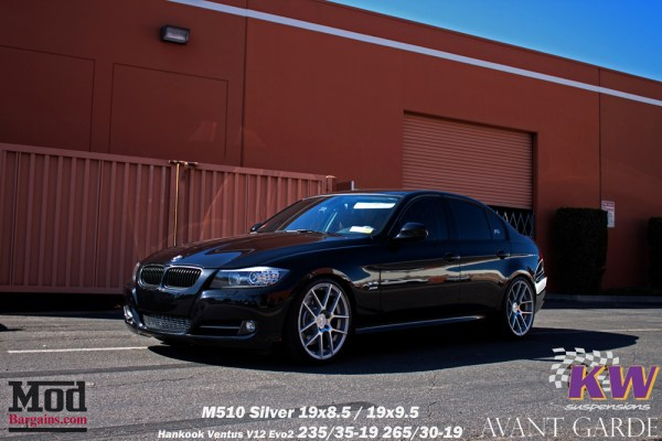 Quick Snap: BMW E90 335xi KW Coilover V1 Install on Avant Garde M510 Wheels