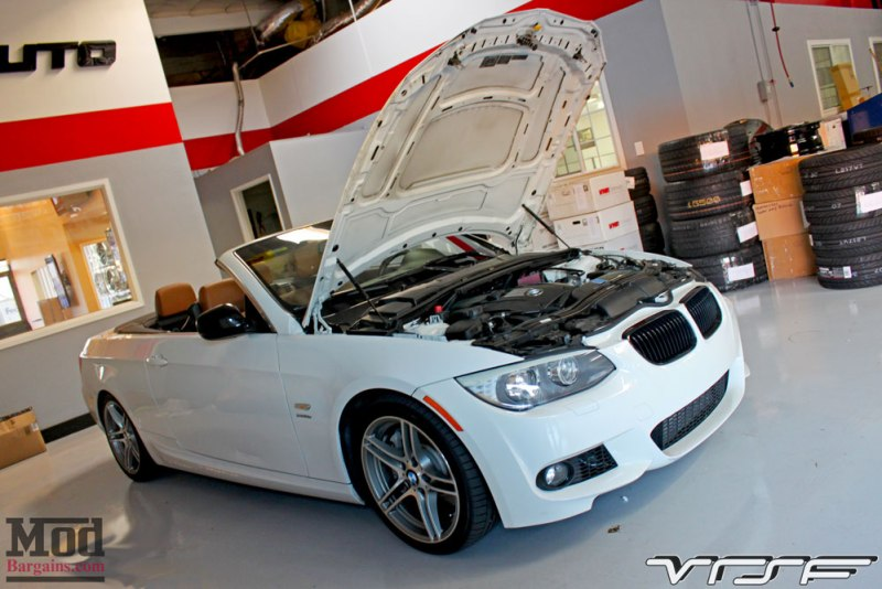 BMW E93 335is White VRSF FMIC Intake Chargepipe JB4 008