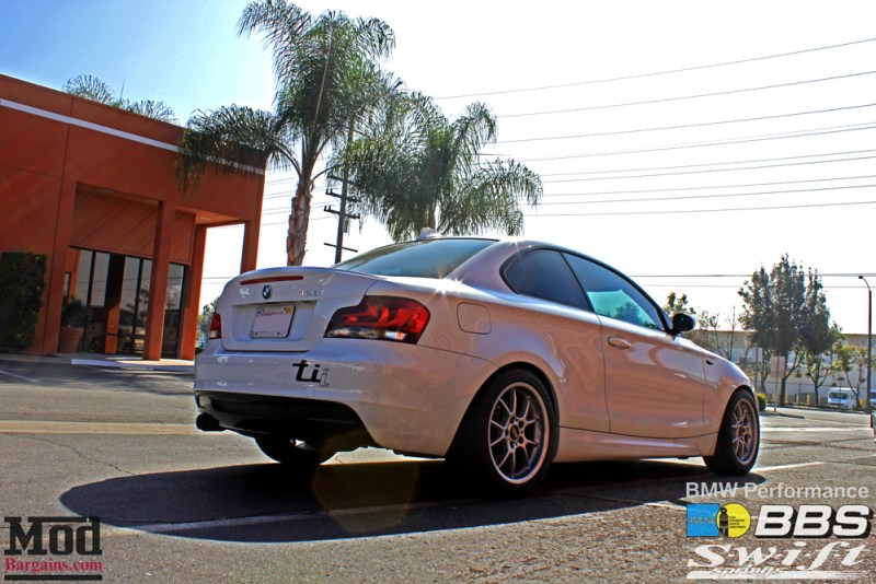 White BMW 135i w/ LCI LDE Tail Lights