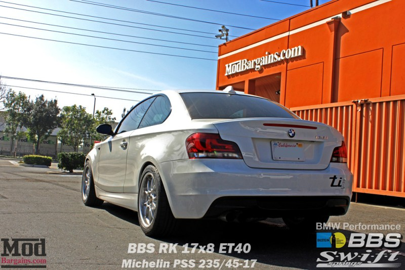 White BMW 135i w/ LCI LDE Tail Lights at Mod Bargains