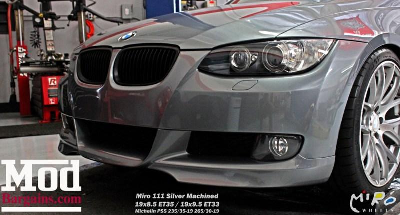 BMW_E92_328i_Gray_CF_Performance_Diffuser_BilsteinShocks_Miro_111_wheels_silver_19x85et35_19x95et33_HRSprings_img004
