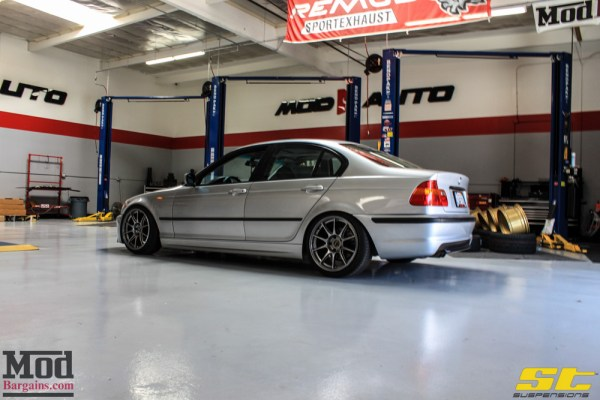 Mad Stance: Droppin a BMW E46 325i on ST Coilovers