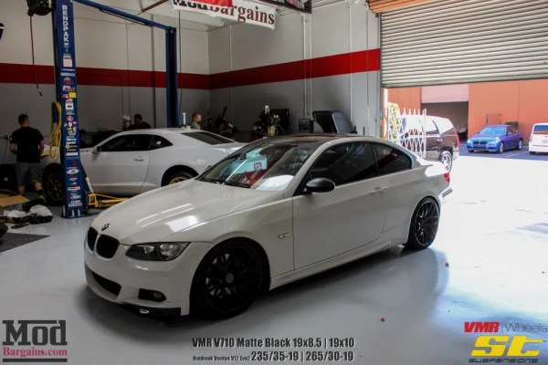 White Tux: Super Clean E92 BMW 335i on VMR V710 & ST Suspension Coilovers