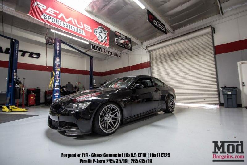 bmw e92 m3 modbargains mod auto black forgestar F14 wheels