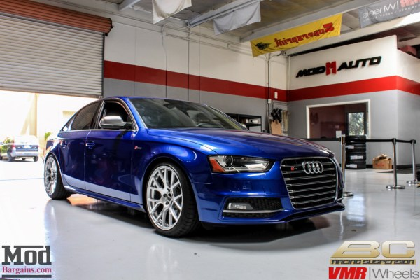 Blue Side: Audi B8 S4 on BC Coilovers gets VMR V810 Wheels