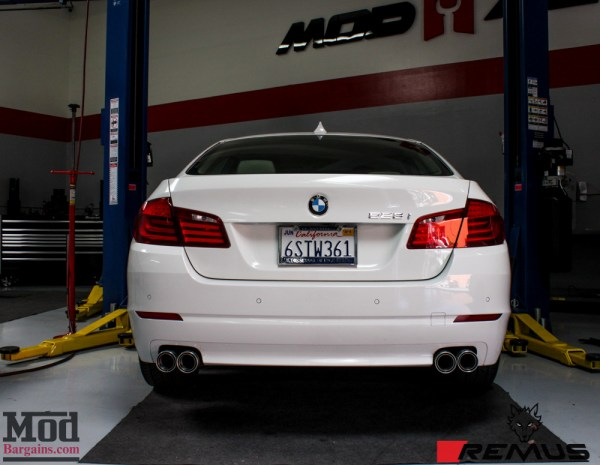 Installed: Remus Quad Exhaust for F10 BMW 528i