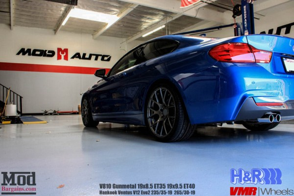 Quick Snap: BMW F32 428i Gets H&R Springs & VMR V810 Wheels