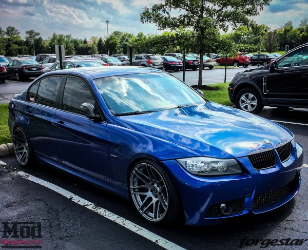Blue E90 BMW 335i Shines on Super Deep Forgestar F14s
