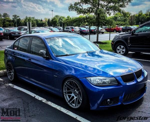 Blue E90 BMW 335i Shines on Super Deep Forgestar F14s