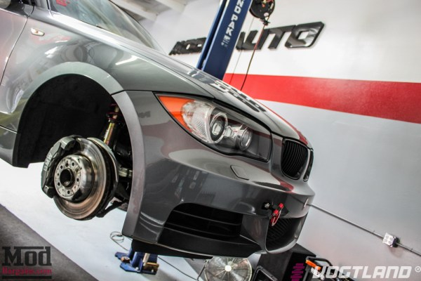 IVAN'S E82 BMW 135I ON VOGTLAND COILOVERS + VMR V701s GOES EVEN LOWER