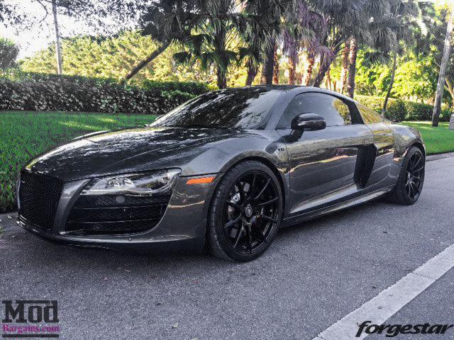 Audi R8 Forgestar CF10 Gloss Black 19x85 19x11 Michelin PSS Tires 002