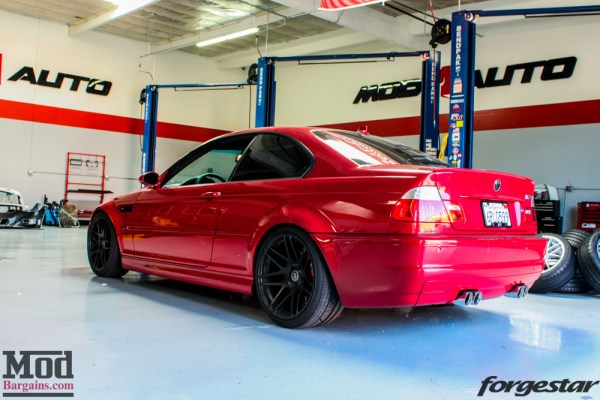 Mean Imola E46 BMW M3 on Super Deep F14s Gets Mishimoto Radiator Installed @ ModAuto