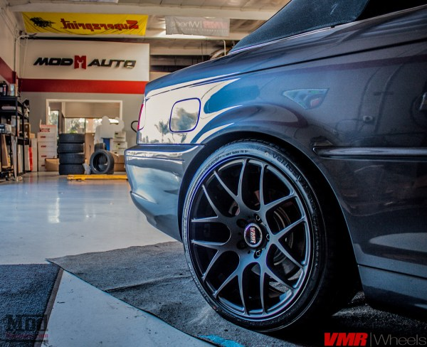 BMW E46 325ci Cabrio Gets Blacked Out with VMR V710 Matte Black Wheels
