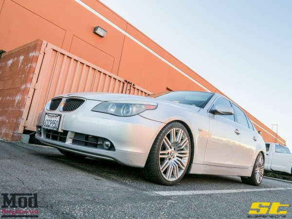 Quick Snap: E60 BMW 525i on ST Coilovers Get Beefier Brakes @ ModAuto