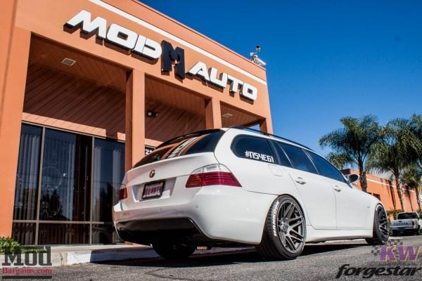 Wild Wagon: Evan P's E61 BMW 535xi Touring on Forgestar Super Deep F14s Visits ModAuto