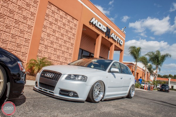 Spotlight: Bagged 8P Audi A3 with Remus Quad Exhaust