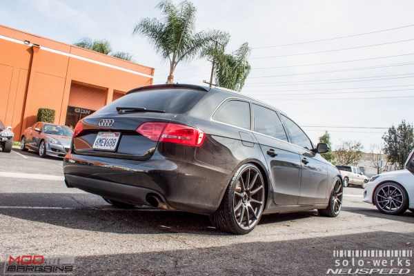Aggro Avant: Chris C's B8 Audi A4 Avant on Solo-Werks Coilovers gets Neuspeed RSe102 Wheels