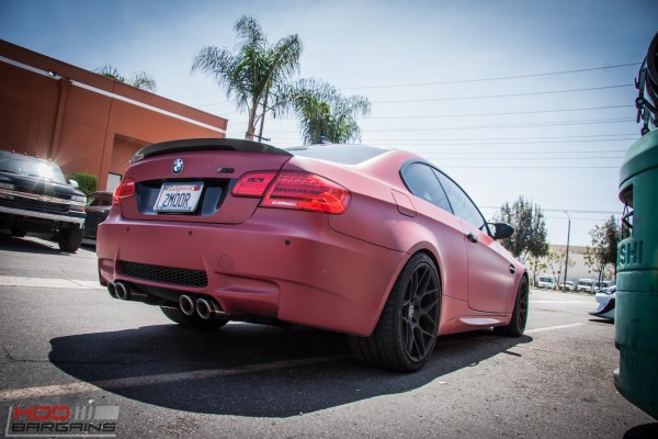 Matte Red E92 BMW M3 on HRE FF01s gets Remus Exhaust @ ModAuto
