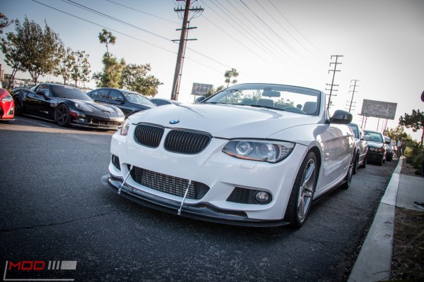 Quick Snap: BMW E93 335is gets APR Front Splitter
