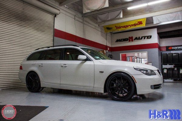 White Whale: E61 BMW 535xi on Rohana RC10 Wheels & H&R Springs