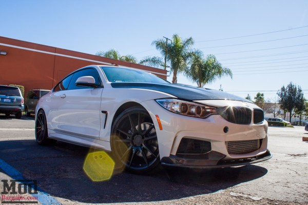 Quick Snap: Aggressive Carbon F32 BMW 428i on Rohana RF2 Wheels + H&R Springs