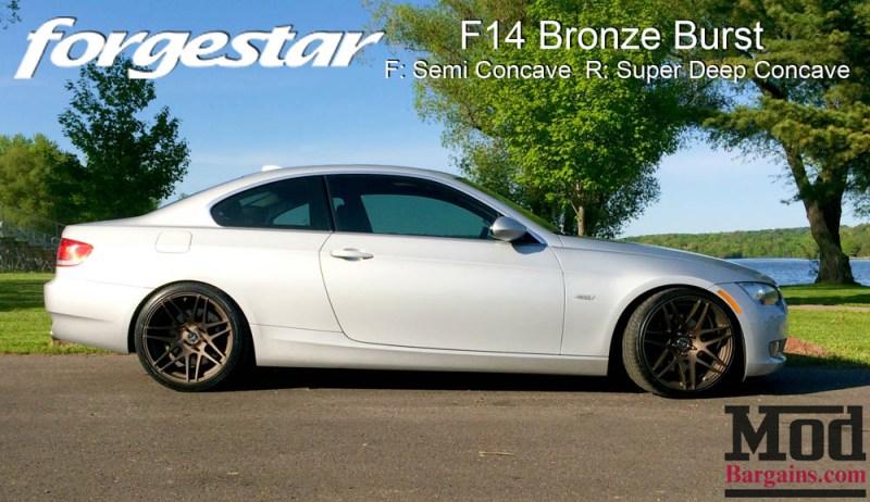 BMW E92 335i Forgestar F14 Bronze Burst 19x85 19x10 003