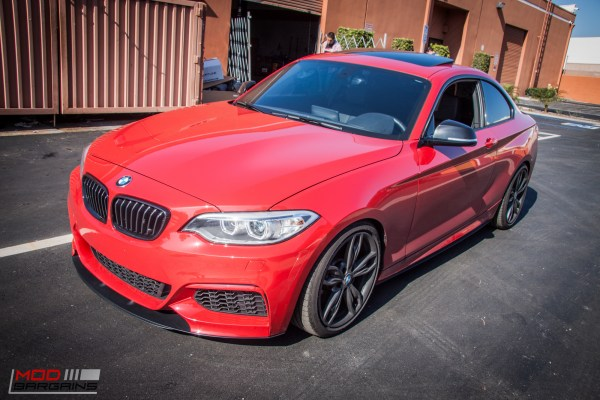 Quick Snap: F22 BMW M235i Redefines Clean with Custom Splitter at ModAuto