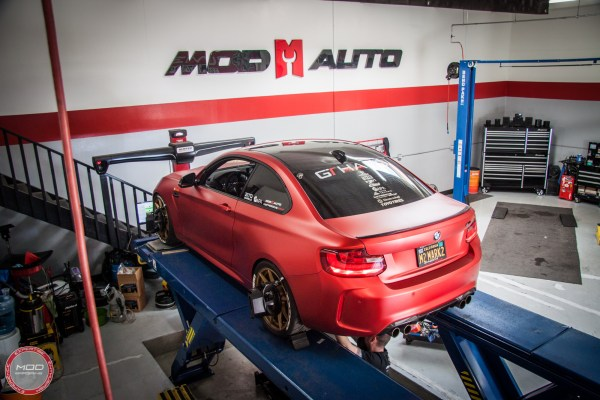 Matte Red BMW M2 Gets Aligned at ModBargains
