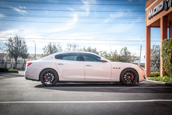 Quick Snap: Maserati Quattroporte on Forgestar CF10 Wheels