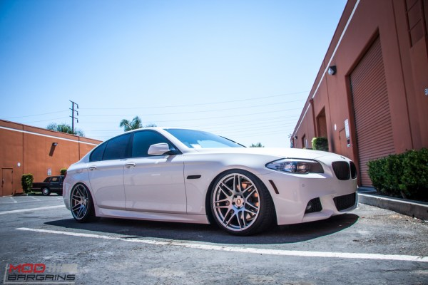 Quick Snap: Airrex Bagged F10 BMW 535i on Forgestar F14s Stuns