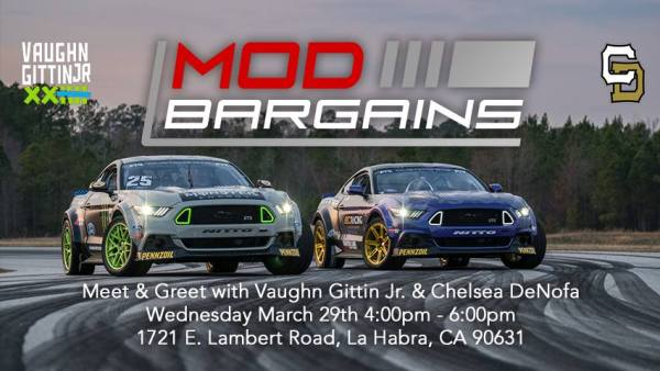 Meet RTR's Vaughn Gittin Jr & Chelsea DeNofa Today @ ModBargains 3/29/17 4-6pm