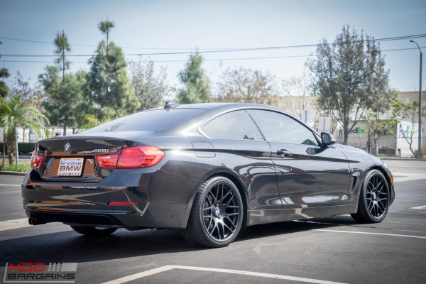 Quick Snap: Black F32 BMW 428i gets Black Sportline 8S Wheels