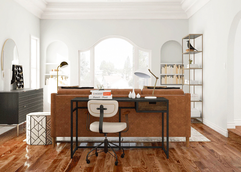 Work From Home 9 Places To Put An Office In The Living Room