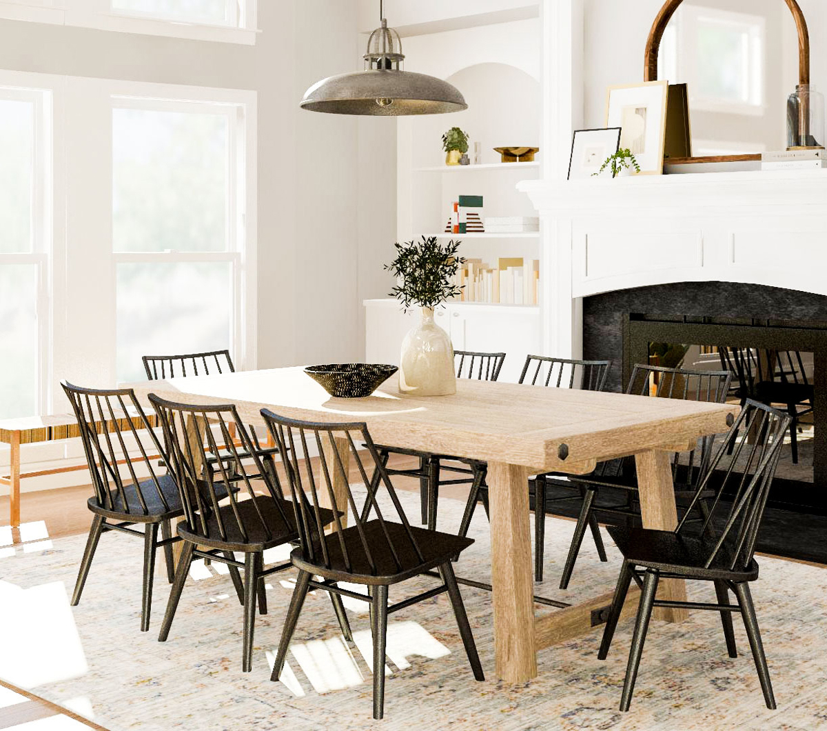 Rustic Family Room Eating Together 5 Design Tips For A Family Dining Room Modsy Blog