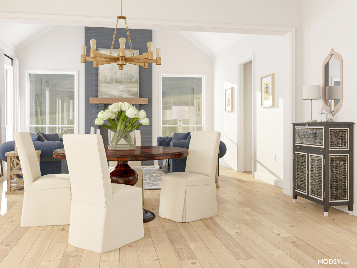 How To Design An Open Living Dining Room Modsy Blog
